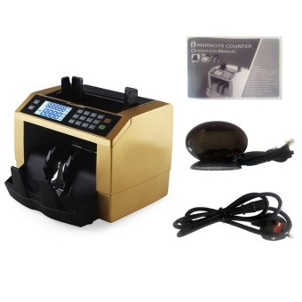 LCD Display Automatic Multi-Currency Cash Banknote Money Bill Counter Counting Machine with UV MG Counterfeit Detector External Display Panel for EURO US Dollar AUD Pound Gold - intl - 5
