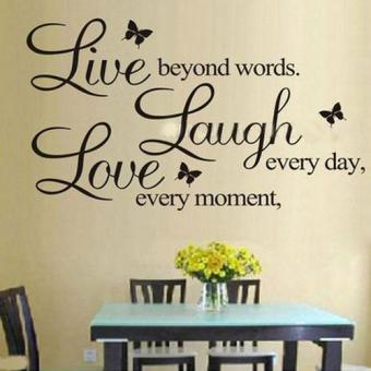 Harga BUYINCOINS Hot DIY PVC Letters LIVE LAUGH LOVE Room Mural Wall Art Sticker Decal Home Decor