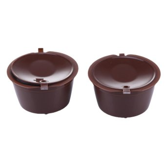 Harga 2pcs/pack Dolce Gusto Refillable coffee Capsule filter reuse cofee tool Box - intl