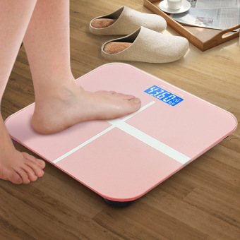 Harga Bathroom Scales Intelligent electronic scales weight scales (Pink) - Intl