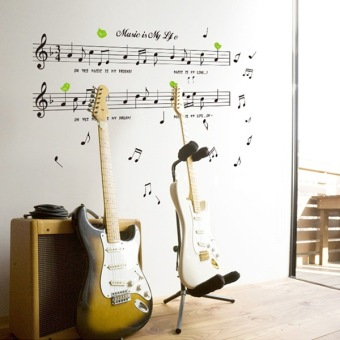 Harga Children's room background wall decoration wall stickers musical instrument piano music notation piano piano room classroom wall stickers