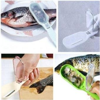 Harga Fish Scales Skin Remover Scaler Fast Cleaner Brush Kitchen Tool - intl