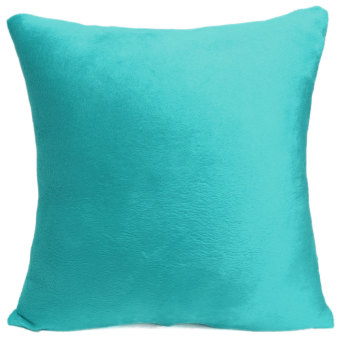 Harga Pure Color Soft Plush Throw Pillow Case Sofa Car Cushion Cover Home Decorative - Intl
