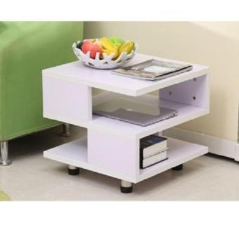 Harga TWO TIER SIDE TABLE - BLACK/WHITE