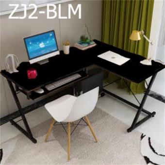 Harga Computer/Study table Z shaped,Model : ZJ2 - BLM (Black)