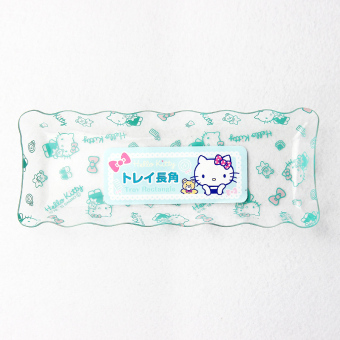 Harga Japan lec hello kitty cute creative household rectangular dessert snack dish fruit plate salad plate
