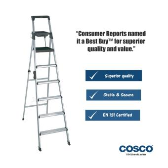Harga Cosco 6-Steps(Black) Aluminium Ladder