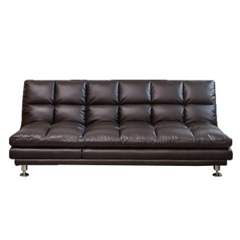 Dave PU Sofabed (Brown) (Free Delivery)