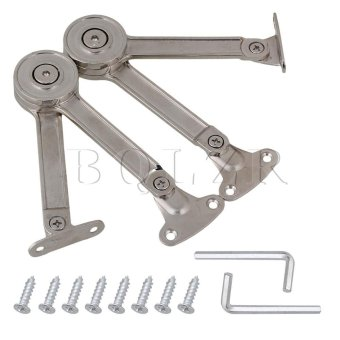 23.8x3.9cm Alloy Door Cabinet Lift Up Support Hinge Set of 2 Price in Singapore