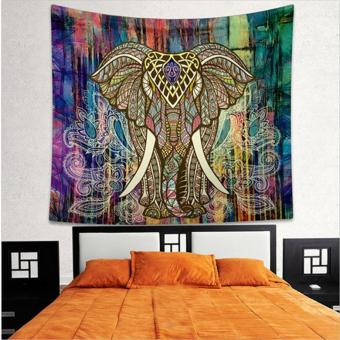 150*130cm Elephant Printed Mandala Tapestry Home Decorative Wall Hanging Tapestry Hippie Tapestries