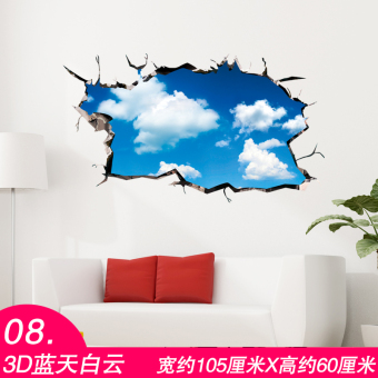 Harga 3D Dimensional Wall stickers poster star ceiling Roof Wall decorations bedroom creative roof sticker Wall