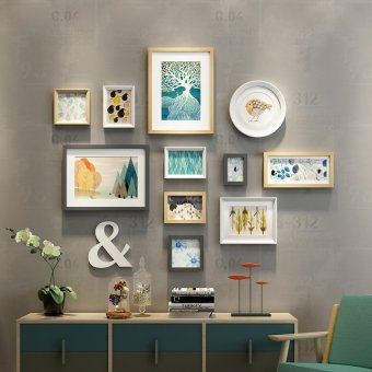 Harga Photo wall modern minimalist wall photo frame combination of creative Snnei decorative products restaurant corridor photo frame wall photo wall
