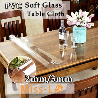 Harga Transparent PVC Mat Soft Tampered Glass Tempered Mat for Table- 2.0mm -70X130cm