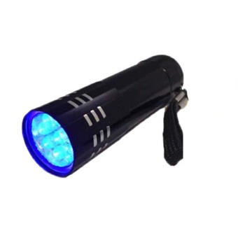 Harga Mini Aluminum UV Ultra Violet 9 LED Flashlight Blacklight Torch Light Lamp #A
