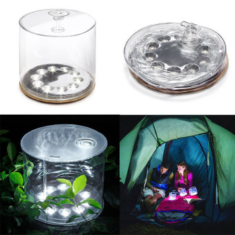 Harga Outdoor 10LED Solar Powered Foldable Inflatable Waterproof Light Garden