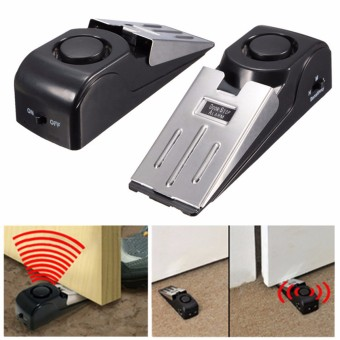 Home Security Door Stop Stopper Floor Doorstop Wedge Warning Alarm Alert System - 5