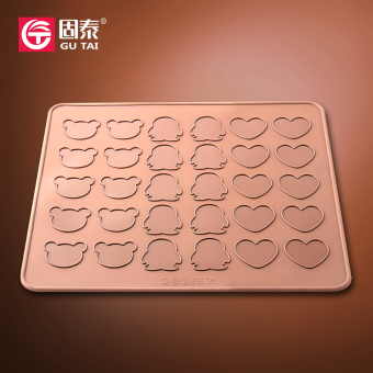 Harga 3 kinds of shape silicone mat macaron baking mold silicone cake mold chocolate mold oven with