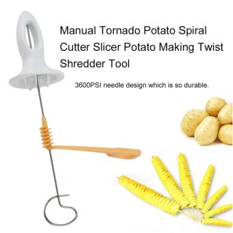 Harga Beau Manual Tornado Potato Spiral Cutter Slicer Potato Making Twist Shredder Tool Yellow And Gray - intl