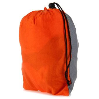 Harga Double Person Assorted Color Portable Parachute Nylon Fabric Hammock for Indoor Outdoor Use (ORANGE)