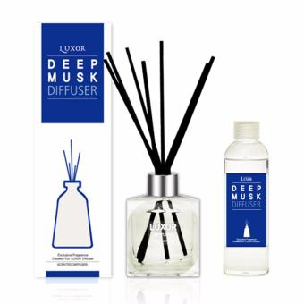 Harga Luxor Aroma Reed Diffuser Deep Musk 200ml Bottle + 200ml Refills + 5 Reed Sticks