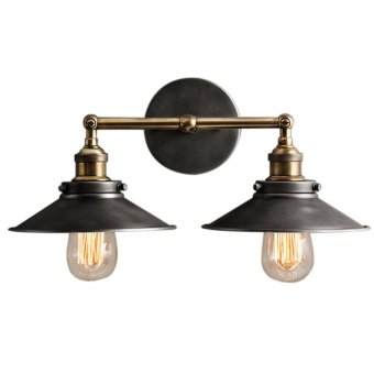 Harga DOUBLE RUSTIC SCONCE WALL LIGHT WALL LAMP
