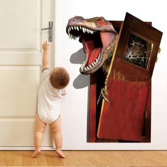 Harga New 3D Wall Dinosaur Children Bedroom Background Wall Stickers - intl