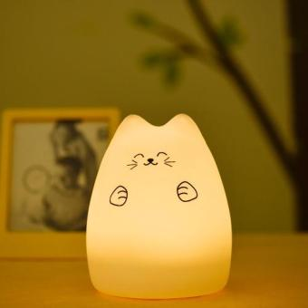 Harga Colorful Silicon Animal Cat Light