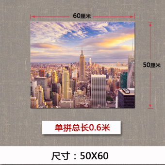 Scandinavian living room decorative painting new york city manhattan buildings scenery quadruple bedroom sofa backdrop mural paintings wall painting