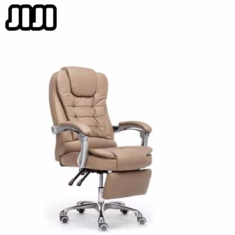 Harga JIJI Ergonomic Premium Leather Boss Office Chair【With Leg Rest】