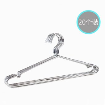 Harga Bold solid stainless steel hanger household racks drying racks clothes hanging clothes rack clothes hanger support value 20