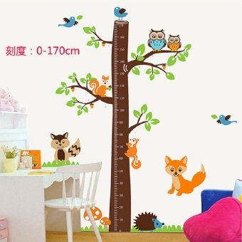 Harga Bedroom children's room nursery decals removable wall sticker cartoon giraffe height wall stickers decorative