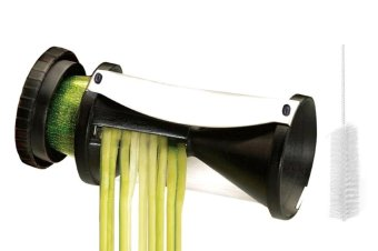 Harga Spiral Vegetable Slicer, Hand Held with Cleaning Brush. Zucchini and Carrot Veggie Pasta Maker(Export)