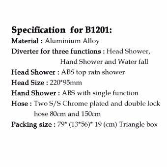 Vumn BTO Rain Shower B1201 - Black - 3