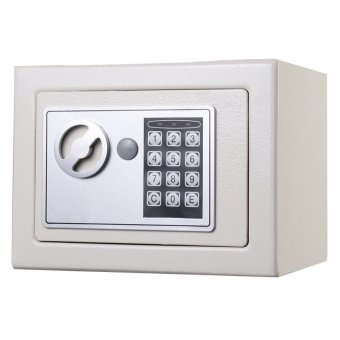 Shindak NEW Small White Digital Electronic Safe Box Keypad LockHome Office Hotel Gun (EXPORT) - 2