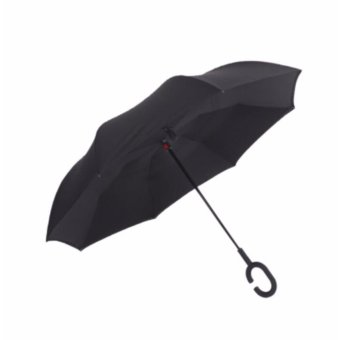 Harga The utility model relates to a reverse umbrella double-layer free umbrella with long handle, a sunshade, a sunshade, an automobile, an umbrella, a straight pole, an advertisement umbrella, a male and female sun umbrella - intl