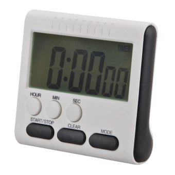 Harga Magnetic Large LCD Digital Kitchen Timer Alarm Count Up Down Clock 24 Hours