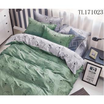 Harga iSleep 100% Pure Cotton Bed sheet set- Cloud Series