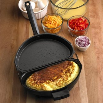 Harga Beau Nonstick Omelet Egg Pan Poacher Cookware Stove-top Family Kitchen Tool Use Black - intl