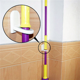 Harga Japan mop rack broom broom hanging rack avoid drilling dry mop mop hook free nail hook