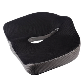 Slow Rebound Memory Foam Seat Cushion for Chair Office Home (Black)