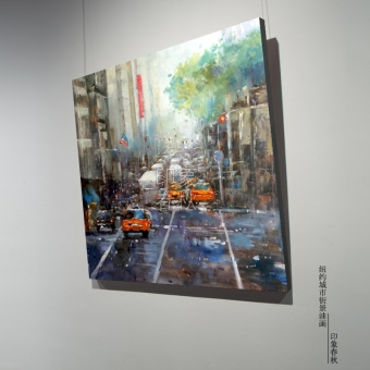 New york city office cafe paintings decorative painting the living room bedroom significant paintings frameless painting impression of the city