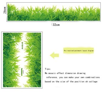 Yika Removable Grass Wall Sticker (Green) - 5