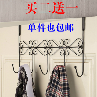 Harga Creative wrought iron door after hook seamless sticky hooks strong hanger hanging clothes hook clothes wall free nail clothes hanging thick