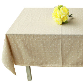 Harga High Quality B:60*60 Linen tablecloths Gaibu Sen Department Petty daisy lace linen table cloth
