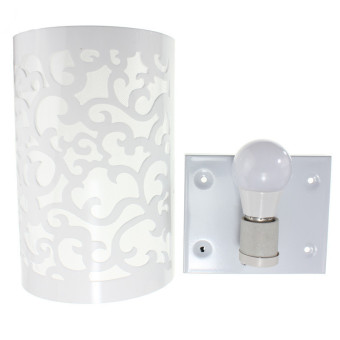 Harga New Modern E27 Lamp Holder Glass Wall Lamp Wall Lamp Light 110-240V