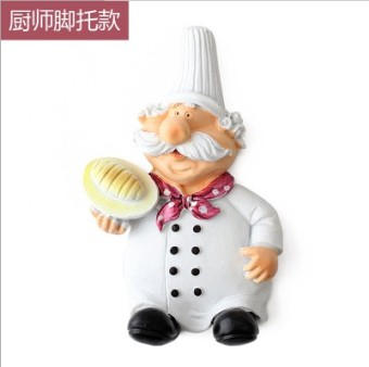 Harga Power cord socket storage rack creative cute cartoon chef style strong adhesive hook plug hook