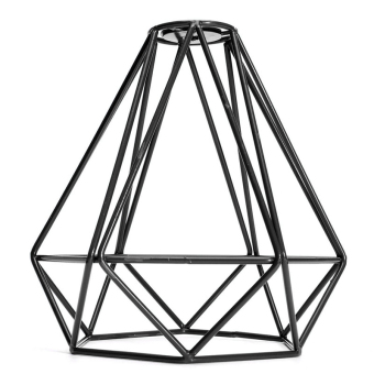 Harga BolehDeals Vintage Metal Diamond Loft Pendant Ceiling Light Lamp Bulb Cage Decor Black - Intl