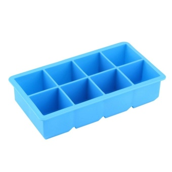 Harga Beau 8-Cavity Large Silicone Drink Ice Cube Pudding Jelly Soap Mold Mould Tray Tool - intl