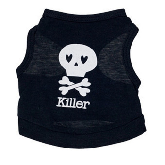 Harga Small dog Cat CAT PET pet Clothes Skull Vest T Shirt Apparel Clothes-L