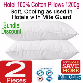 Harga Nile Valley's Hotel100% Cotton Pillows with Mite Guard. 1200 grams